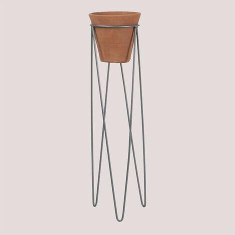 SKLUM Macetero Dhin  Cerámica - Acero          -         ↑60 cm