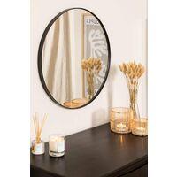 Espejo de Pared Redondo en Metal (Ø60,5 cm) Gon SKLUM Acero Negro - Negro
