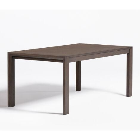 SKLUM  Table de salle à manger extensible en bois Quëbi (170 x 95 cm) Bois de Manguiers Marron Wengé          -  Marron Wengé