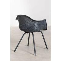 Chaise avec accoudoirs Adel SKLUM Polyéthylène - Acier - Gris Anthracite