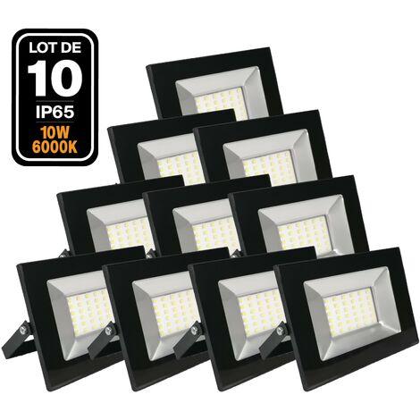 10 Projecteurs Led 10W Ipad 6000k Haute Luminosité - Blanc froid 6000K