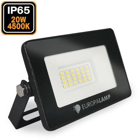 Meister 7490550 Projecteur LED pour lext/érieur avec protection contre les projections deau 80 W et c/âble dalimentation 3 m avec poign/ée de transport 8000 lm