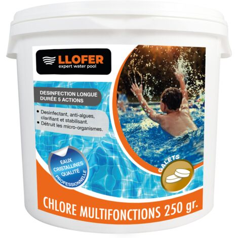 5KG CHLORE MULTIFONCTIONS GALETS DE 250GR
