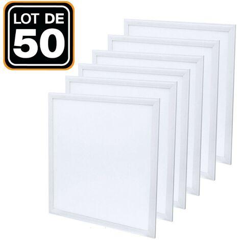 Lot de 50 Dalles Led 40W 60X60 PMMA Blanc Neutre 4000K Haute Luminosité