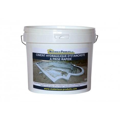 Ciment hydraulique d'étancheité à prise rapide - 5 Kg Gris