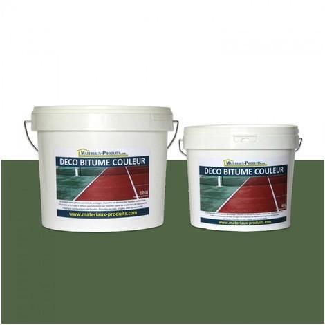 Peinture résine pour bitume enrobé Vert Tennis - 6 Kg Vert