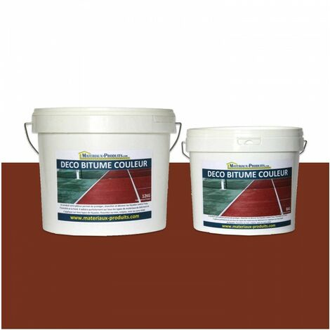 Peinture résine pour bitume enrobé Rouge Tennis - 24 Kg Rouge Tennis