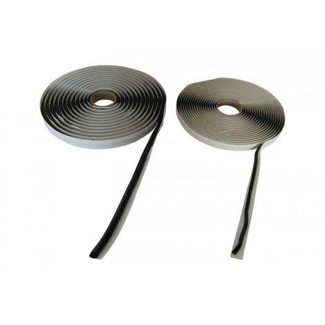 Joint Mastic d'étanchéité en cordon préformé Noir ou Gris - Rouleau de 6 m x 9.5 mm Noir