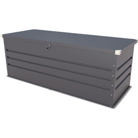 Coffre de jardin métal anthracite 700 L