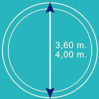 Bâche d'hiver pour piscine ronde 3,6 m - 4 m