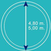 Bâche d'hiver pour piscine métal ou résine ronde 4,8 m - 5 m