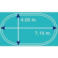 Bâche d'hiver pour piscine bois ovale 7,1 m x 4 m Béluga