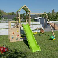Aire de jeux en bois ULTRA XPERIENCE TRIGANO - 8 enfants