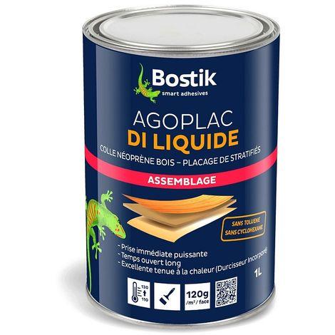 Colle avec durcisseur incorporé BOSTIK AGOPLAC DI LIQUIDE assemblage à froid de stratifiés 1L