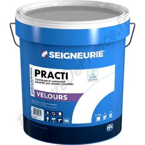 Peinture SEIGNEURIE Practi Velours BLANC 15L | Conditionnement: 15 Litres
