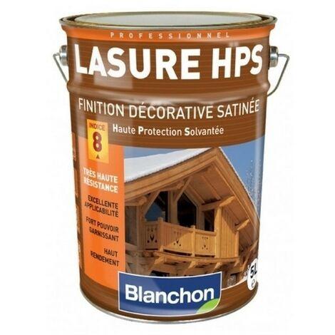 Lasure Bois Extérieur BLANCHON HPS satinée haute protection solvantée   5 Litres - LASURE HPS CHÊNE DORÉ