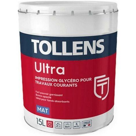 Peinture TOLLENS professionnelle Ultra Mat & Impression | Blanche - 3 Litres