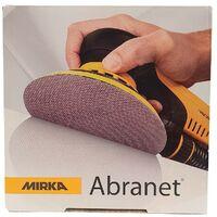 Disques abrasifs MIRKA Abranet ∅150 mm X50 | Épaisseur du grain: P 120 (Fin: Finition)