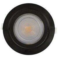 Spot Orientable 18W LED SMD | blanc-chaud-3000k - noir