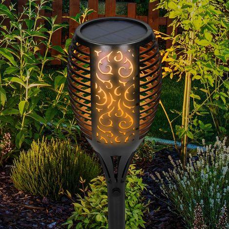 LED Gartenfackel Solar Garten Solarleuchte Licht Gartenleuchte Wasserdicht Lampe