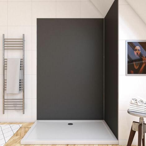 Panneau Mural 100 X 210 Cm Revetement Pour Douche Et Salle De Bains Decodesign Decor Schulte Ardoise D1901021 F 601