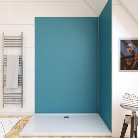 Panneau mural de douche BLEU en aluminium - 120 x 210 cm - WALL\'IT BLEU 120