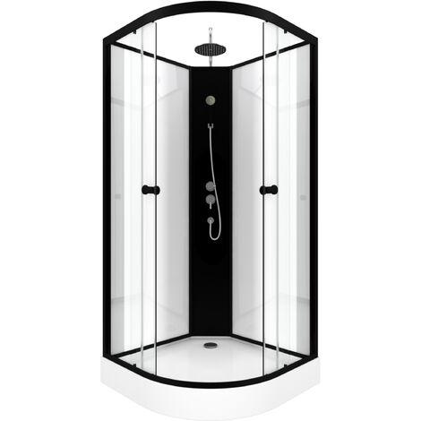 Cabine de douche 85x85cm 1/4 de cercle - URBAN 85