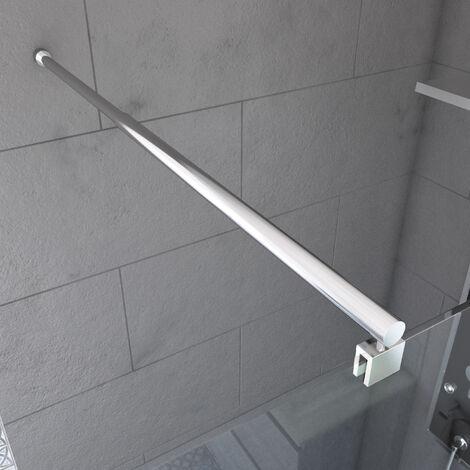 Barre de fixation extensible pour douche a l'italienne - extensible 70 a 100cm - Fixation murale