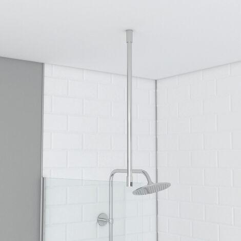Barre de fixation plafond pour douche a l'italienne - BARRE DE FIXATION PLAFOND 60cm RECOUPABLE