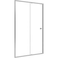 Paroi porte de douche Coulissante blanc 120x185cm - extensible - WHITY slide 120