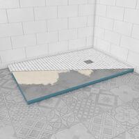 Bac receveur de douche a carreler 140x90 cm recoupable sur mesure pour douche a l'italienne