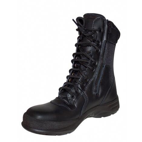 Chaussures de sécurité montantes style Rangers - Parade Britek - Norme S1P - Femme Noir 40 - Noir