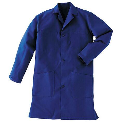 Blouse de travail Bleu 100% coton et fermeture à boutons - Vetiwork Bleu 6 - Bleu