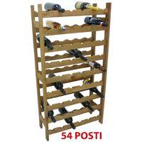 Mobile porta bottiglie cantinetta vino in legno Noce marrone 54 posti enoteca bar casa cucina ripostiglio
