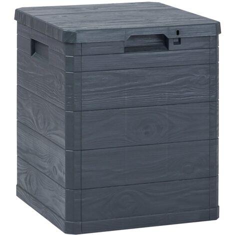Vidaxl Garten Aufbewahrungsbox 90 L Anthrazit