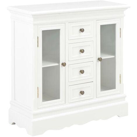 Sideboard Weiß 70×28×70 cm Massivholz Kiefer