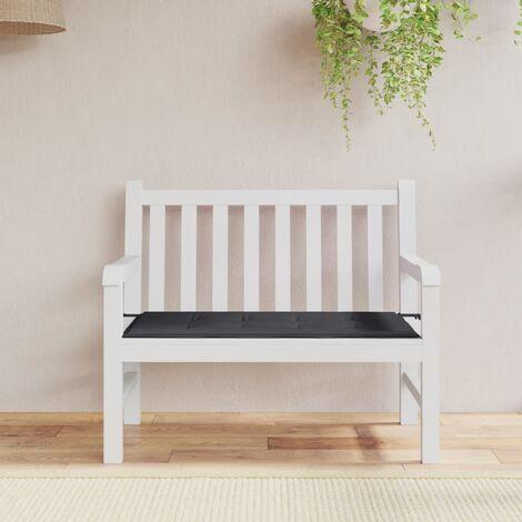 vidaXL Gartenbank Auflage Schwarz 100cm Bankauflage Bankkissen Polsterauflage