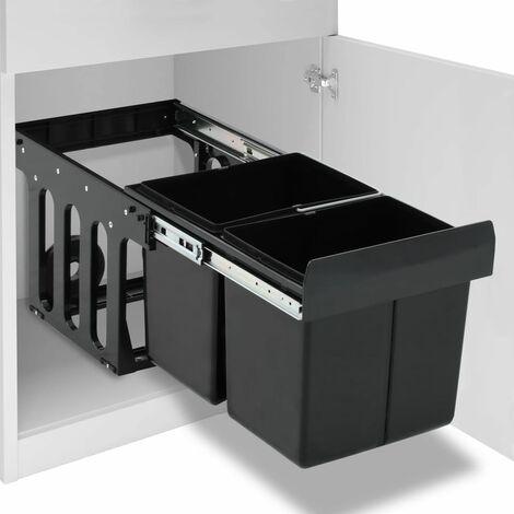 Abfallbehälter für Küchenschrank Ausziehbar Soft-Close 36 L