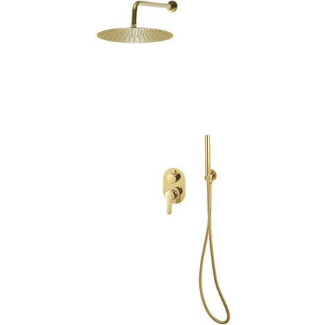 Duschsystem Edelstahl 201 Golden