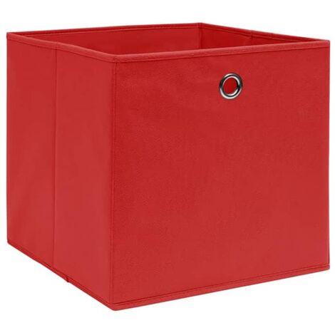 Aufbewahrungsboxen 4 Stk. Vliesstoff 28x28x28 cm Rot