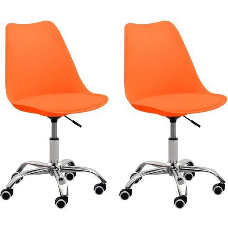 Bürostühle 2 Stk. Orange Kunstleder
