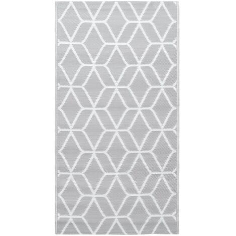 Outdoor-Teppich Grau 120x180 cm PP