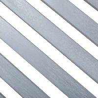 2-Sitzer-Gartenbank 120 cm Grau Eukalyptus Massivholz