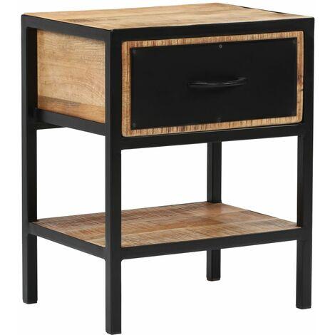 vidaXL Bedside Cabinet Solid Mango Wood 40x30x50 cm - Brown