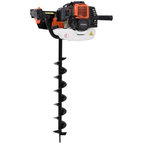 vidaXL Auger Ground Drill Orange