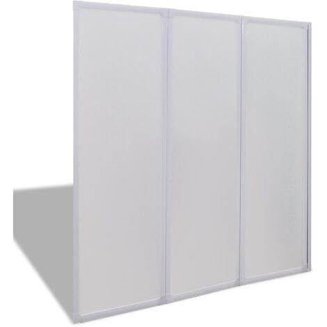 vidaXL Shower Bath Screen Wall 3 Panels Foldable 117 x 120 cm