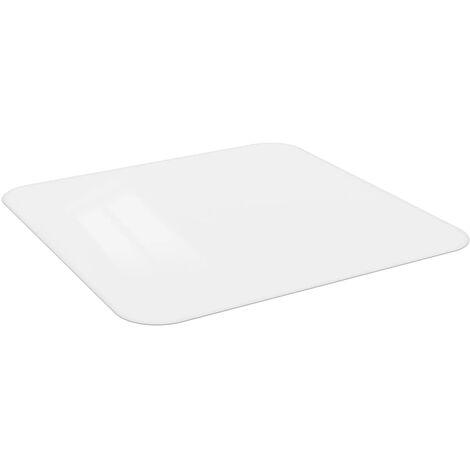 Floor Mat For Laminate or Carpet 120 cm x 120 cm - White