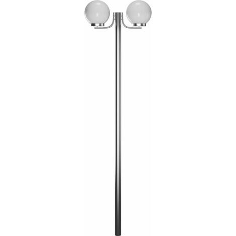 Garden Lamp Post 2 Lamps 220cm - White