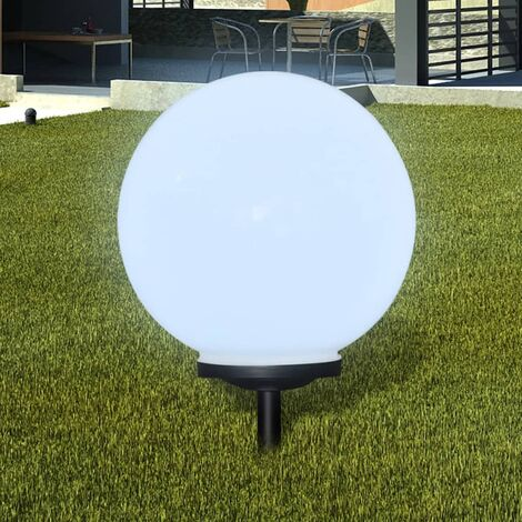 Outdoor Path Garden Solar Lamp Path Light LED 40cm 1pcs Ground Spike - White
