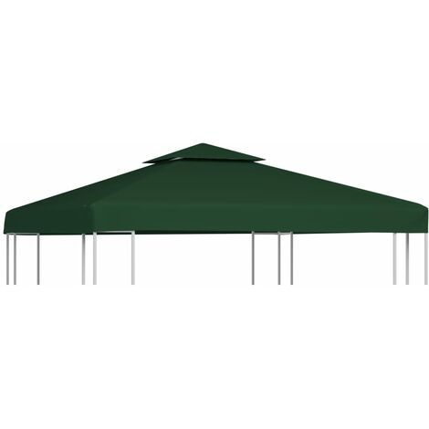 vidaXL Gazebo Cover Canopy Replacement 310 g / m² Green 3 x 3 m - Green